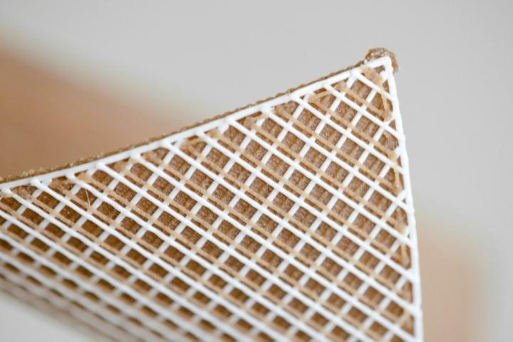Gedruckte Formänderungsstruktur (c) ©ICD Universität Stuttgart